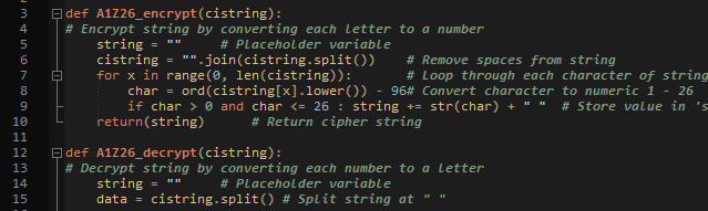 Python Cipher Series: A1Z26 Cipher